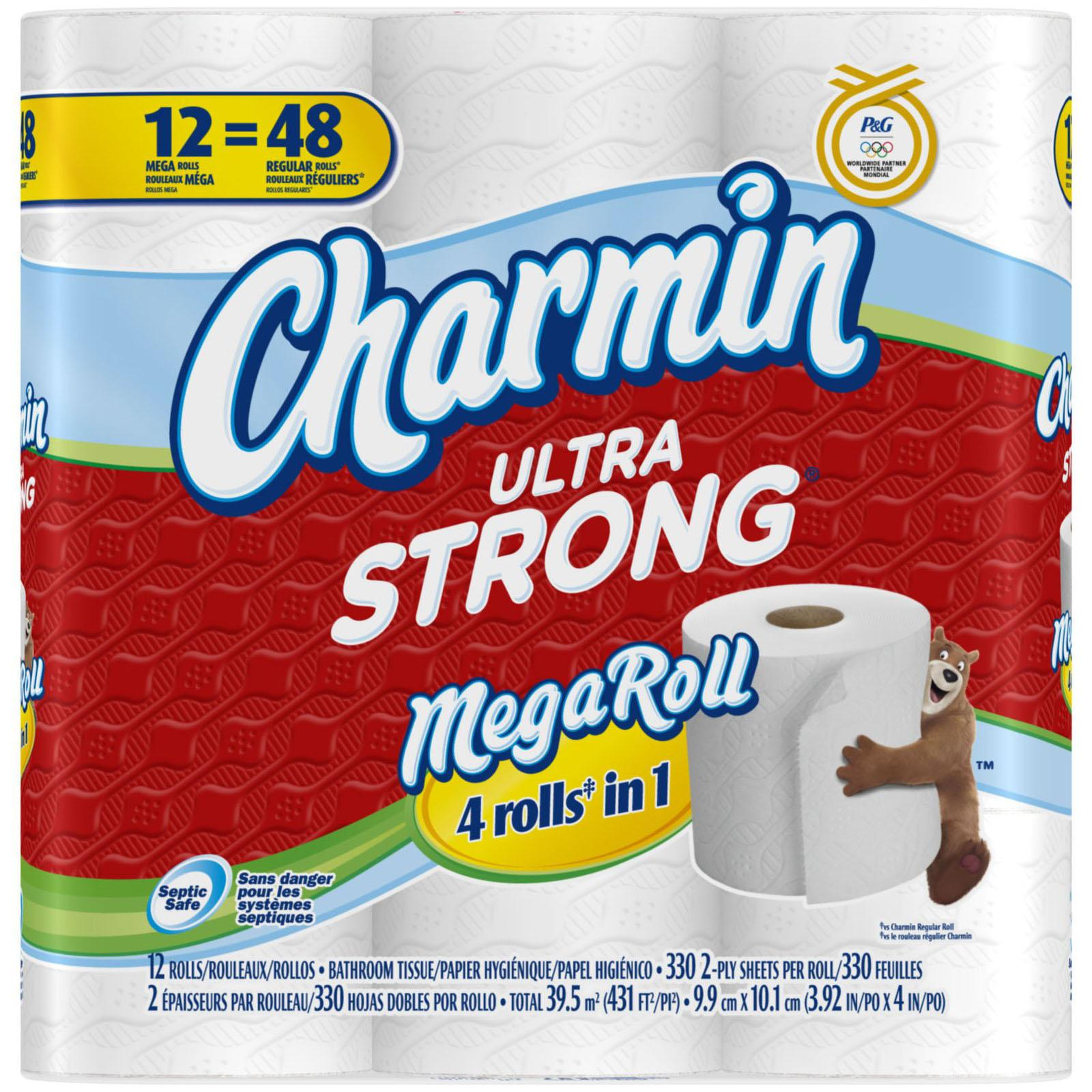 96 Charmin Ultra Strong Toilet Paper Mega Rolls