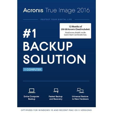 Acronis True Image 2016 with 250GB Cloud Storage Free