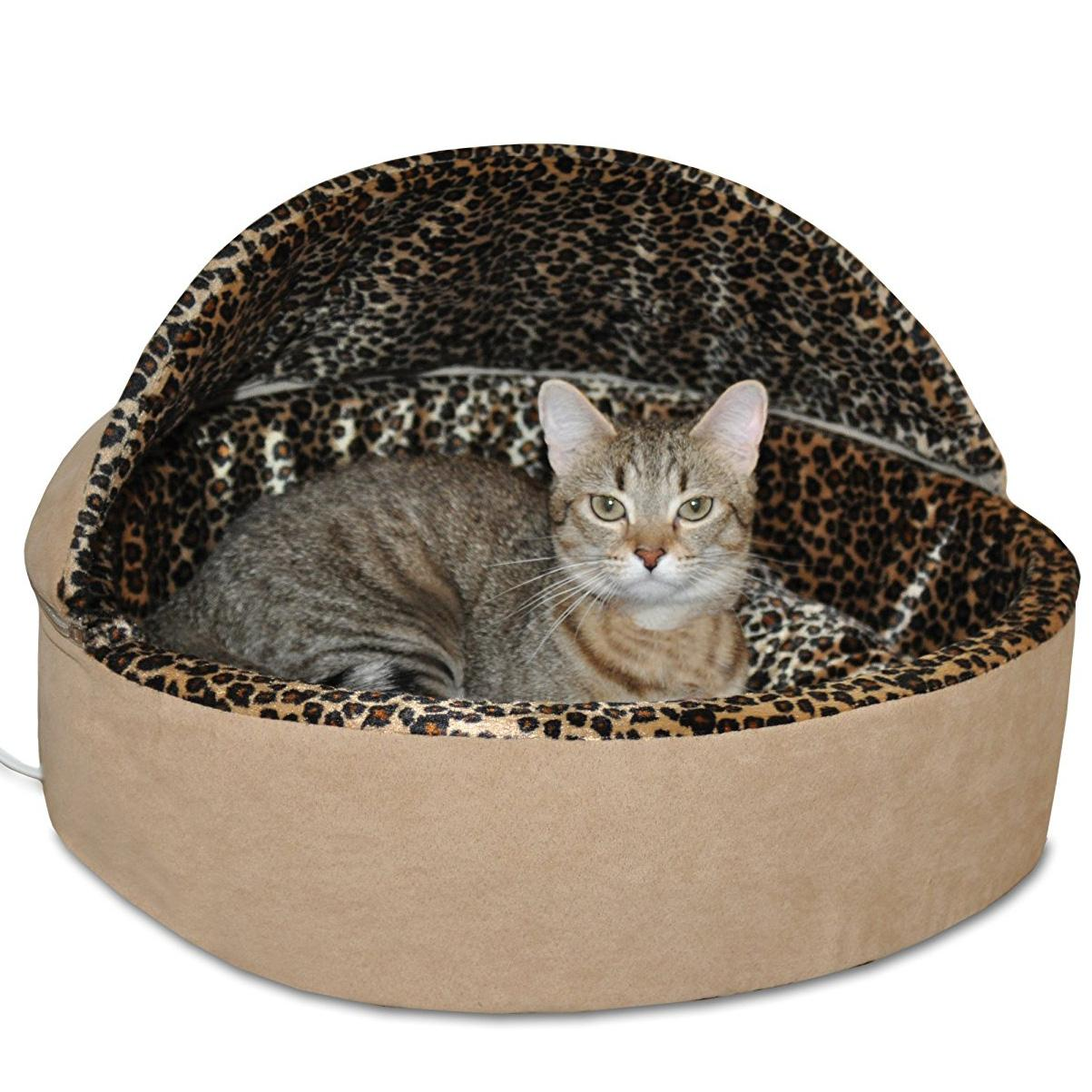 K&H Thermo-Kitty 20in Deluxe Cat Bed with Hood
