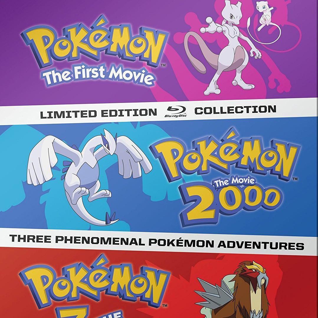 Pokemon Movies 1-3 Steelbook Blu-ray Collection