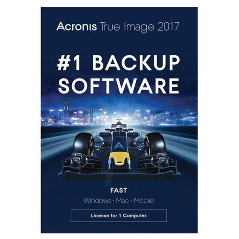 Acronis True Image 2017 Software with 1TB Storage