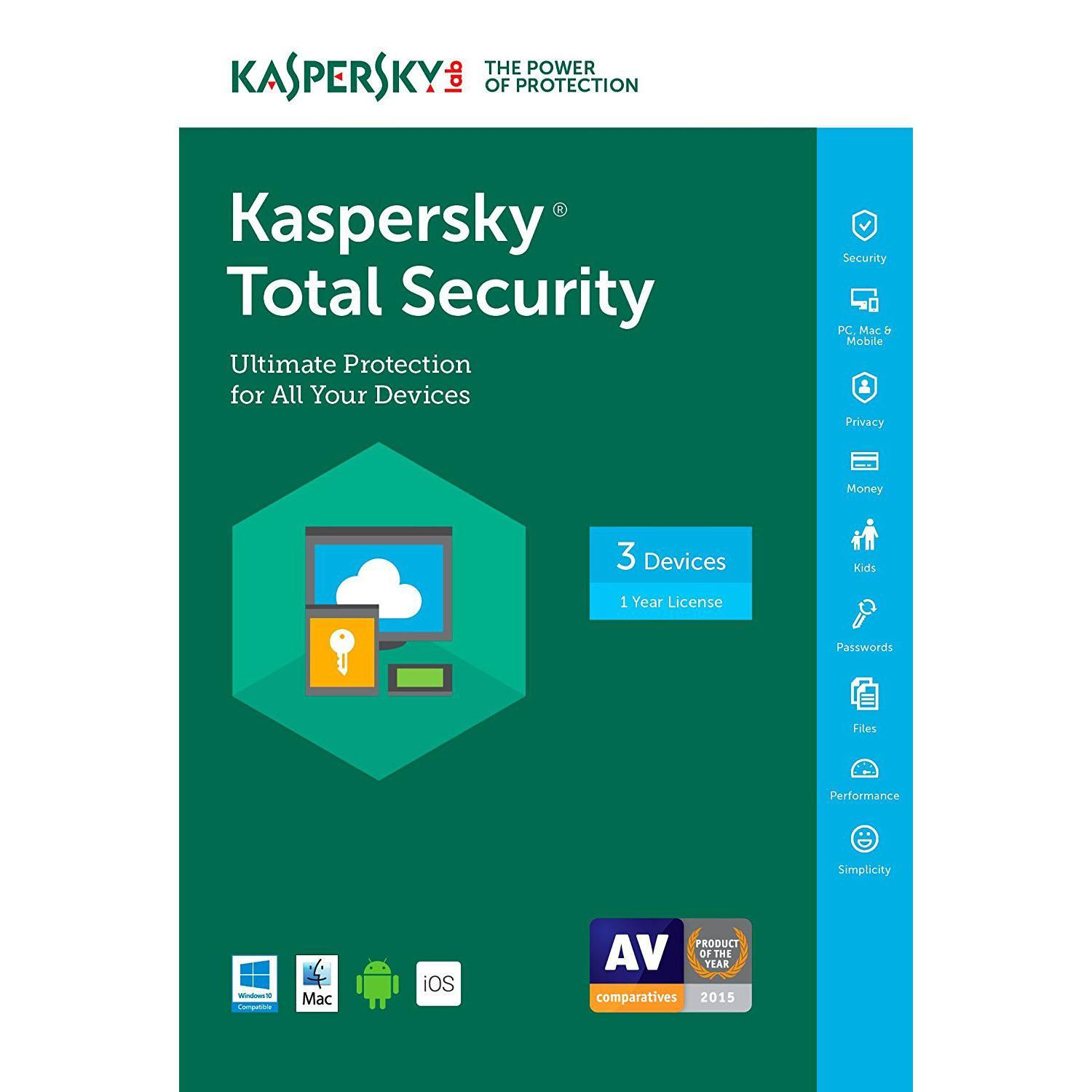 Kaspersky Total Security 2017 3 Devices Free