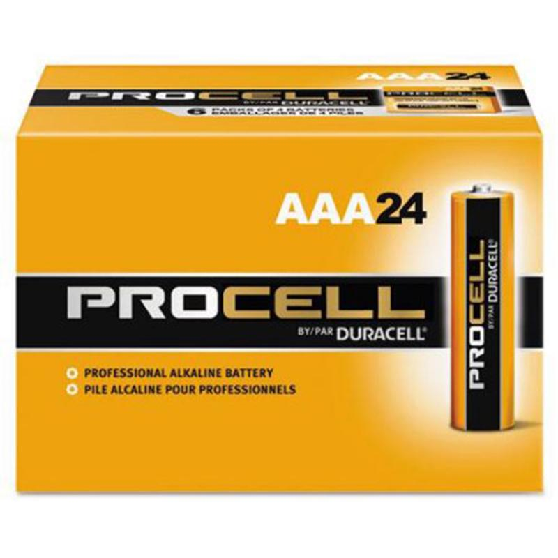 24 Duracell Procell AAA Batteries