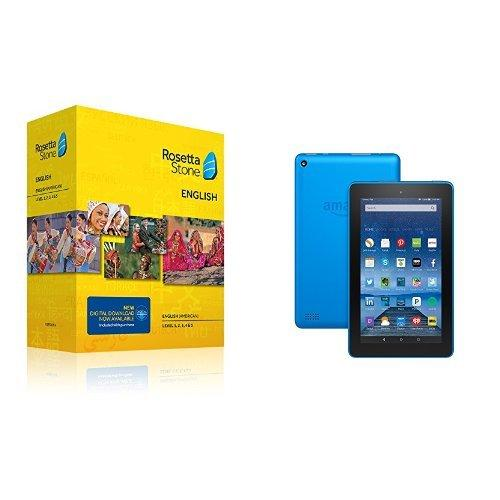 Rosetta Stone Level 1-5 with Amazon Fire Tablet