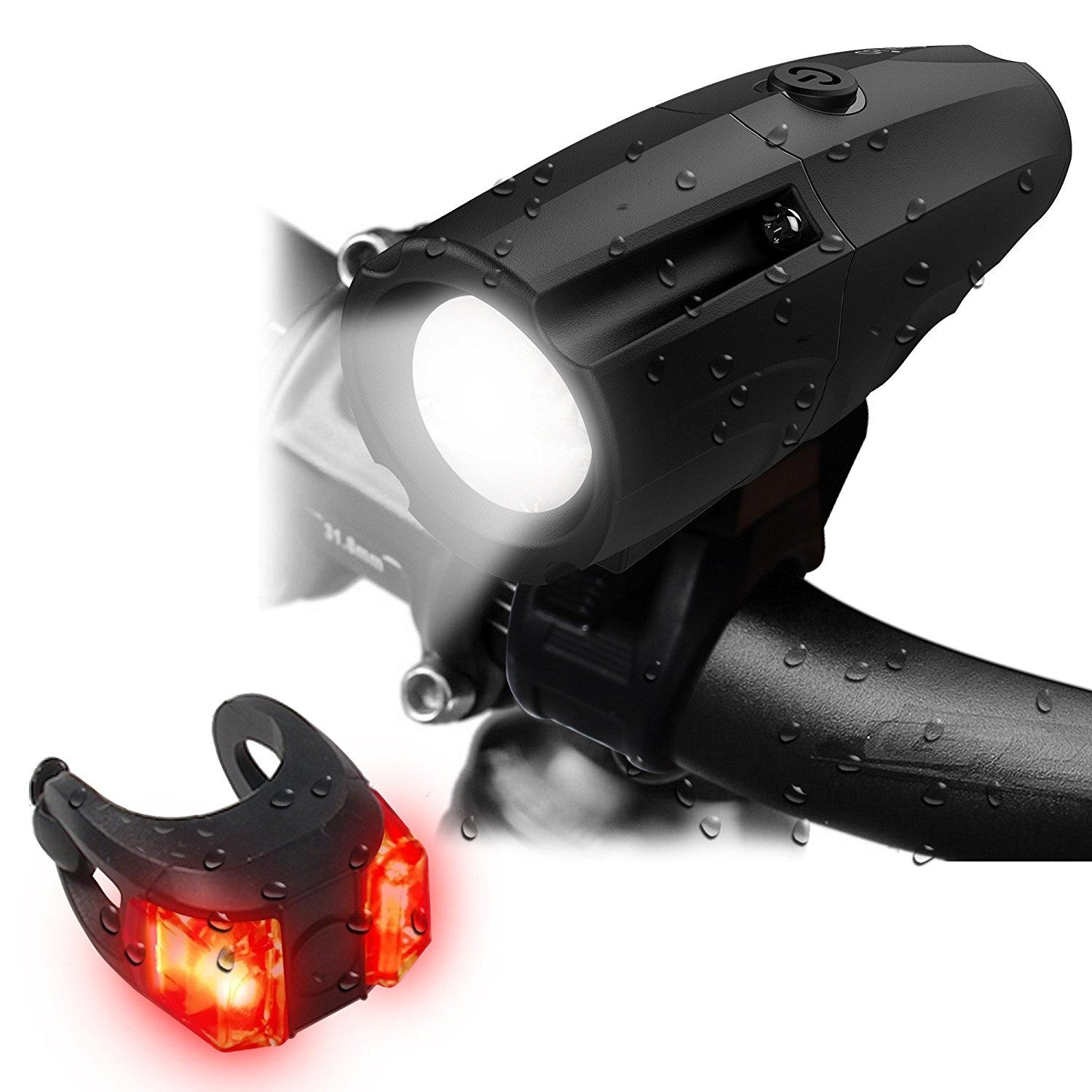 OxyLED 300 Lumens USB Rechargeable Bike Light Set