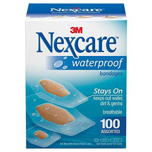 100 Nexcare Assorted Waterproof Bandages