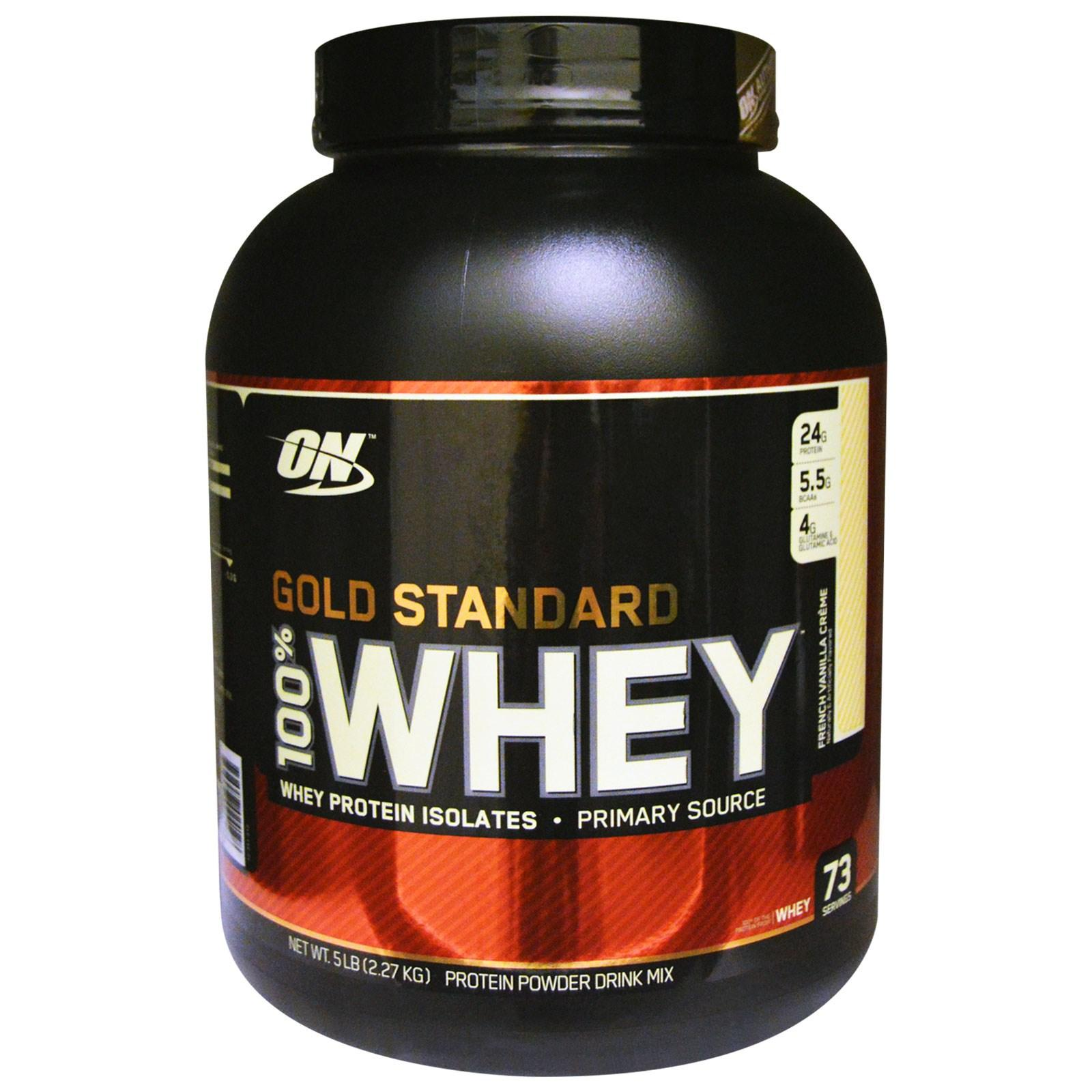 6.4lbs Optimum Nutrition Gold 100% Whey Protein