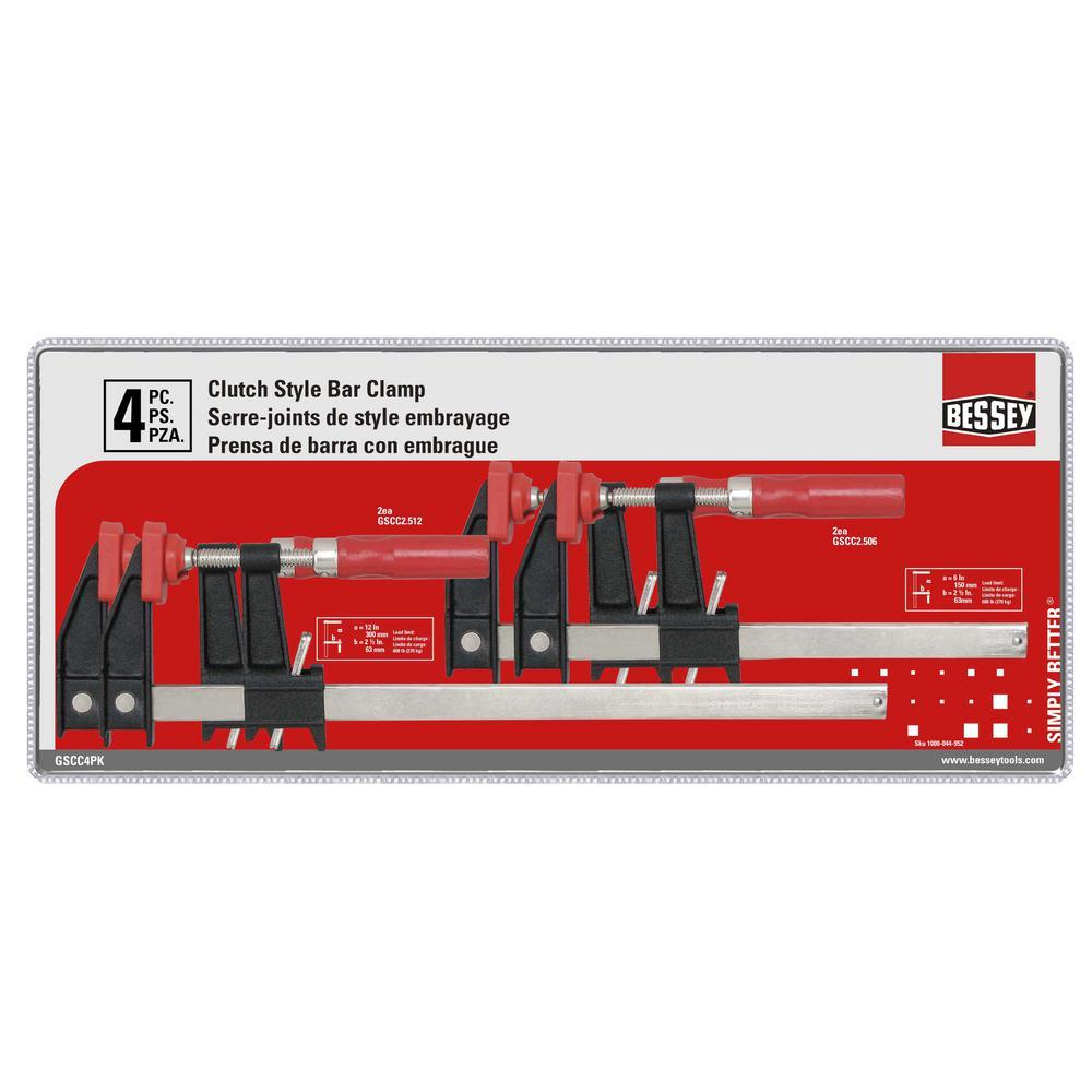 Bessey Clutch Style Bar Clamp Set
