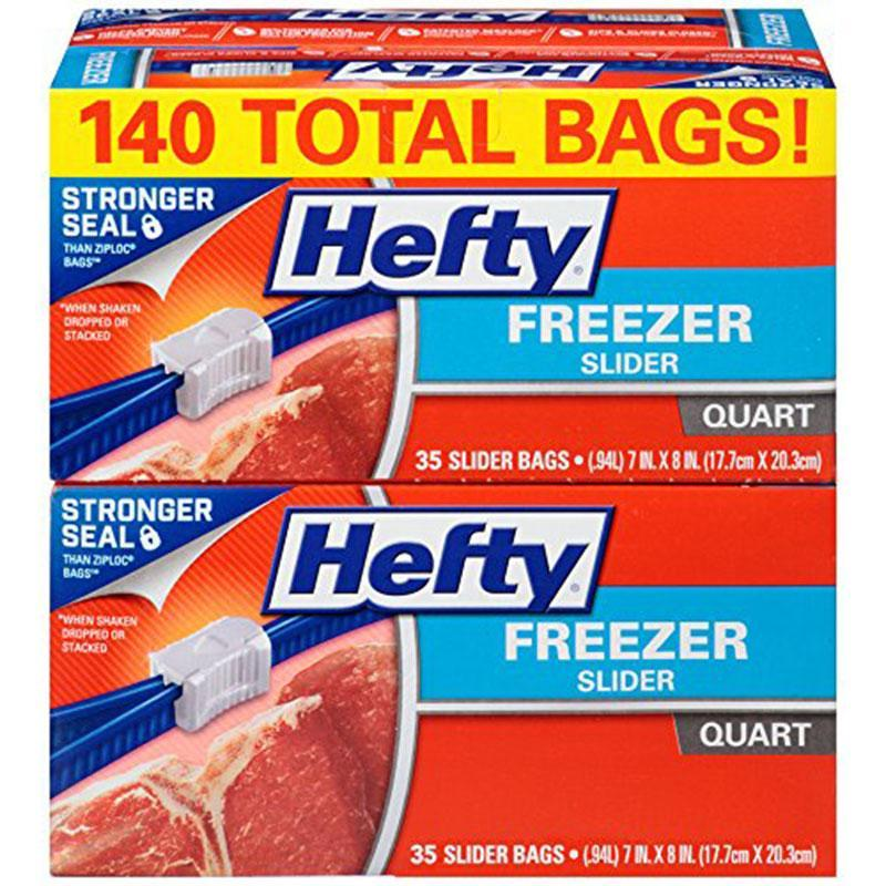 140 Hefty Slider Freezer Bags for $8.58 Shipped
