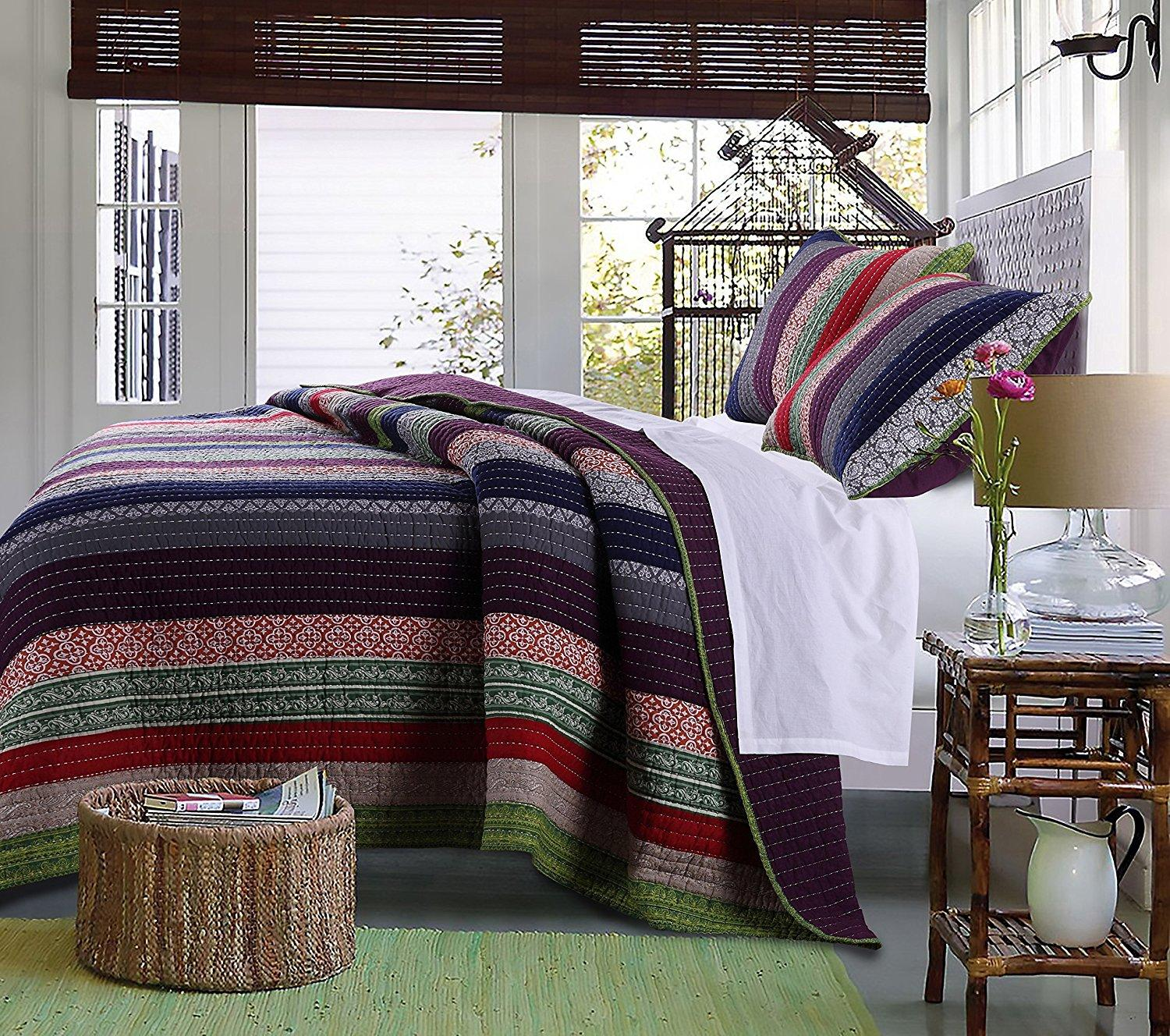 3-Piece Greenland Home Marley Quilt King Set