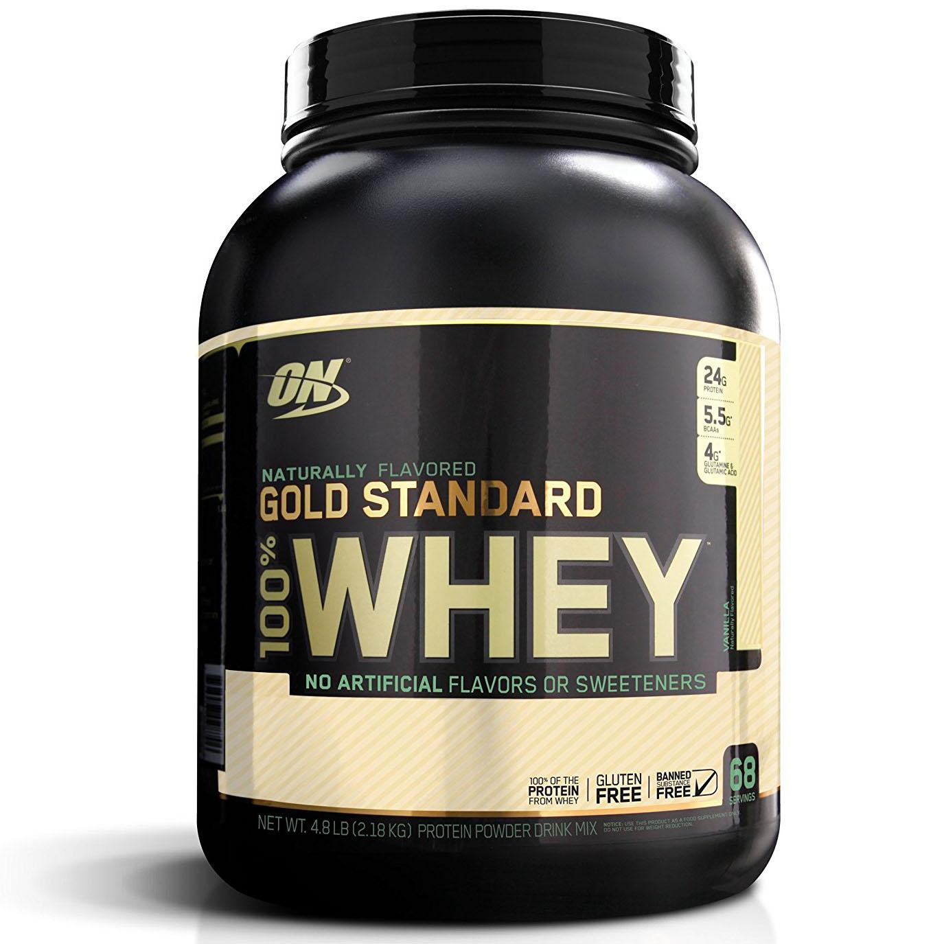 4.8Lbs Optimum Nutrition Gold Standard Whey Protein Powder