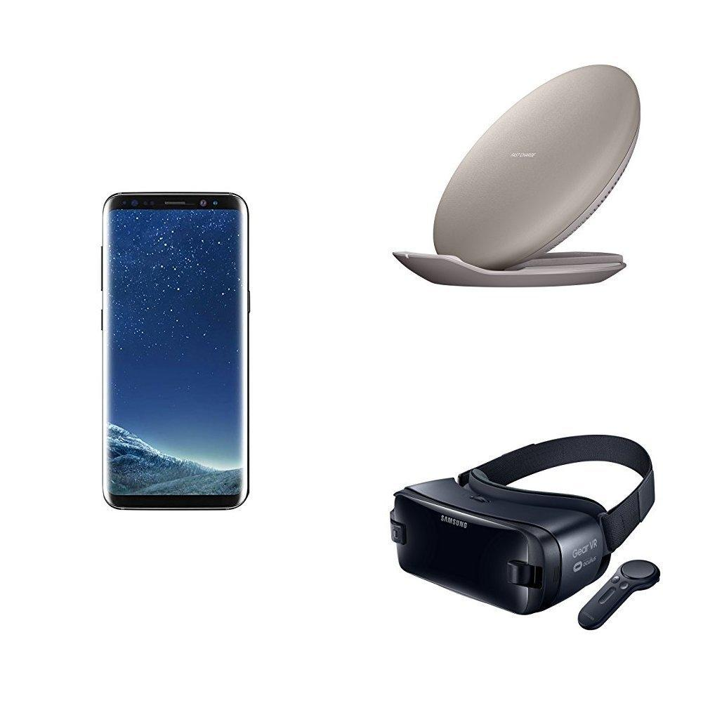 Out) Samsung Galaxy S8 with Gear VR and Wireless Charger