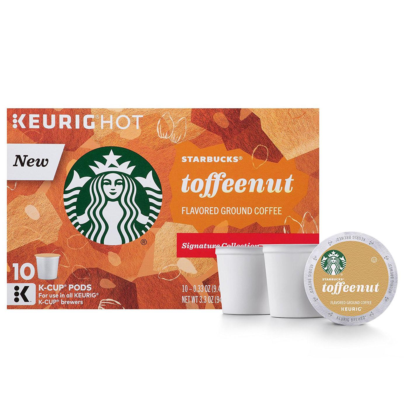 Out) 60 Starbucks Toffeenut K-Cups