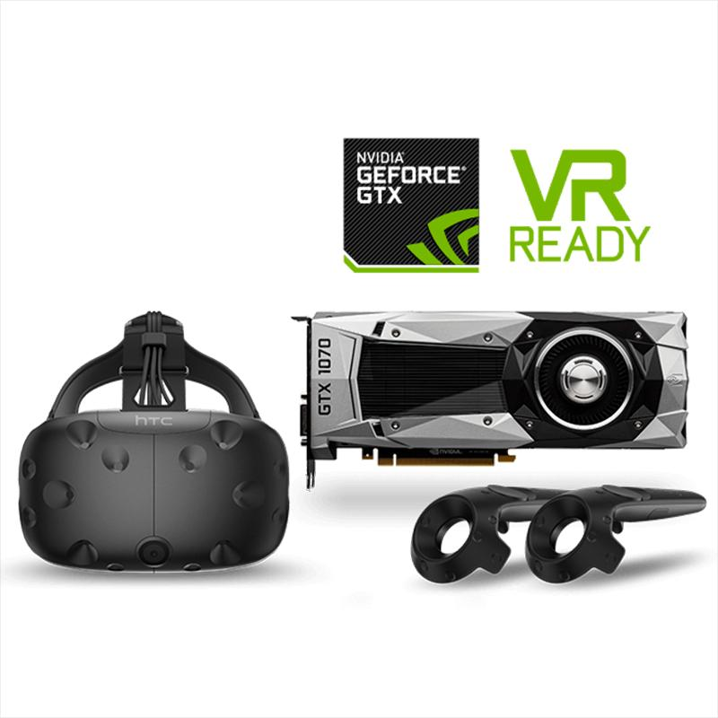 GeForce GTX 1070 Founders Edition GPU with HTC Vive Bundle