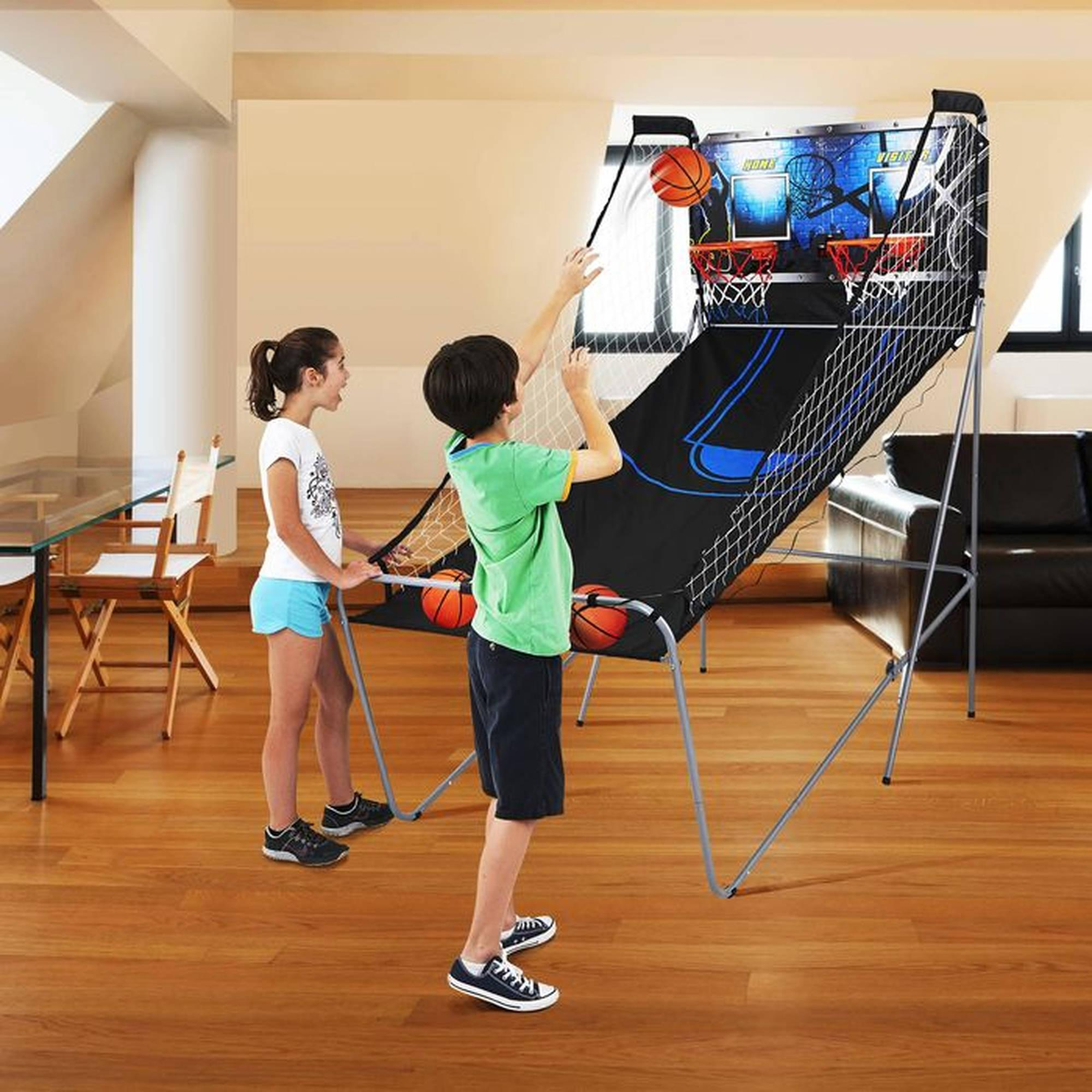 MD Sports 2-Player Arcade Basketball Game with 8 Options