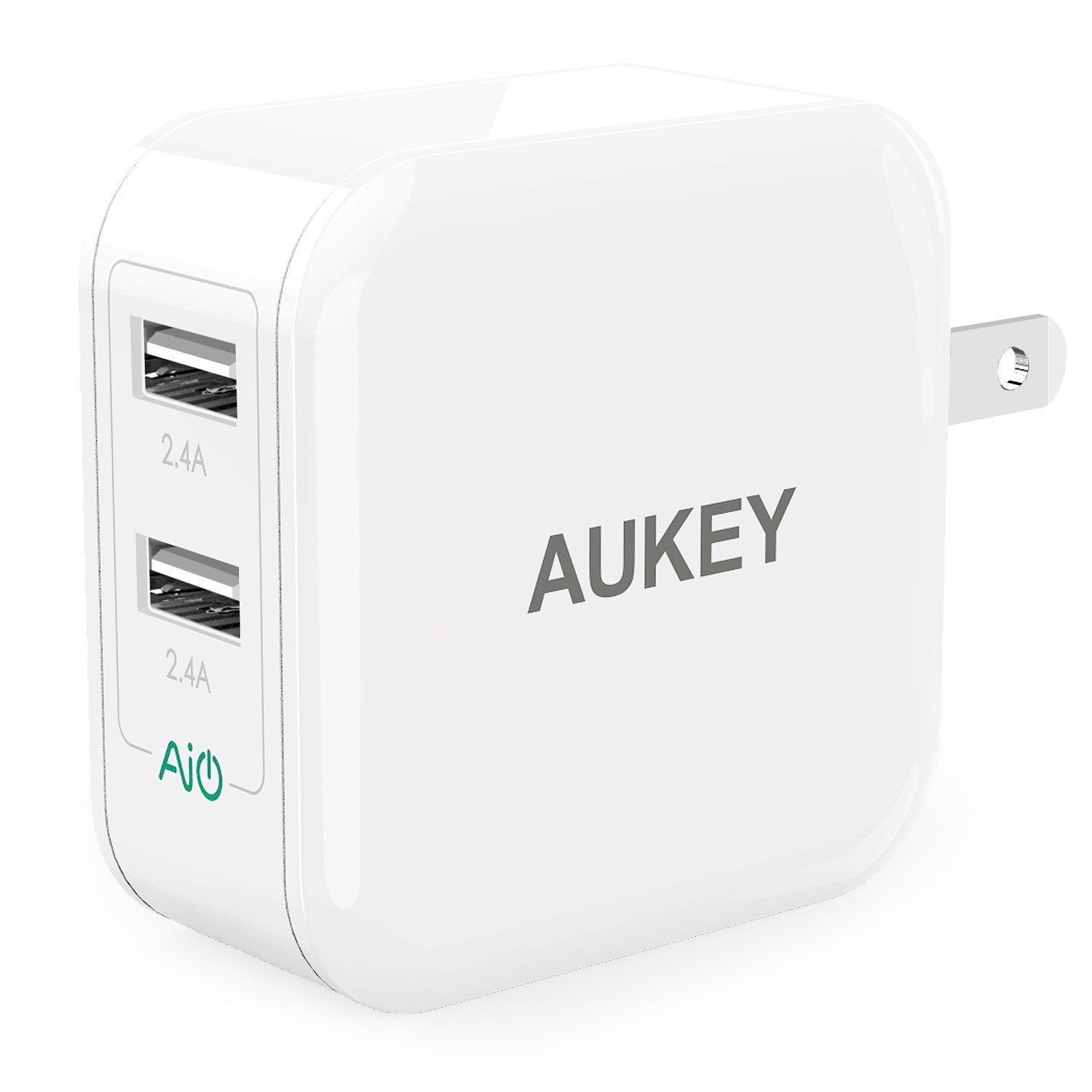 Aukey Dual-Port USB Wall Charger