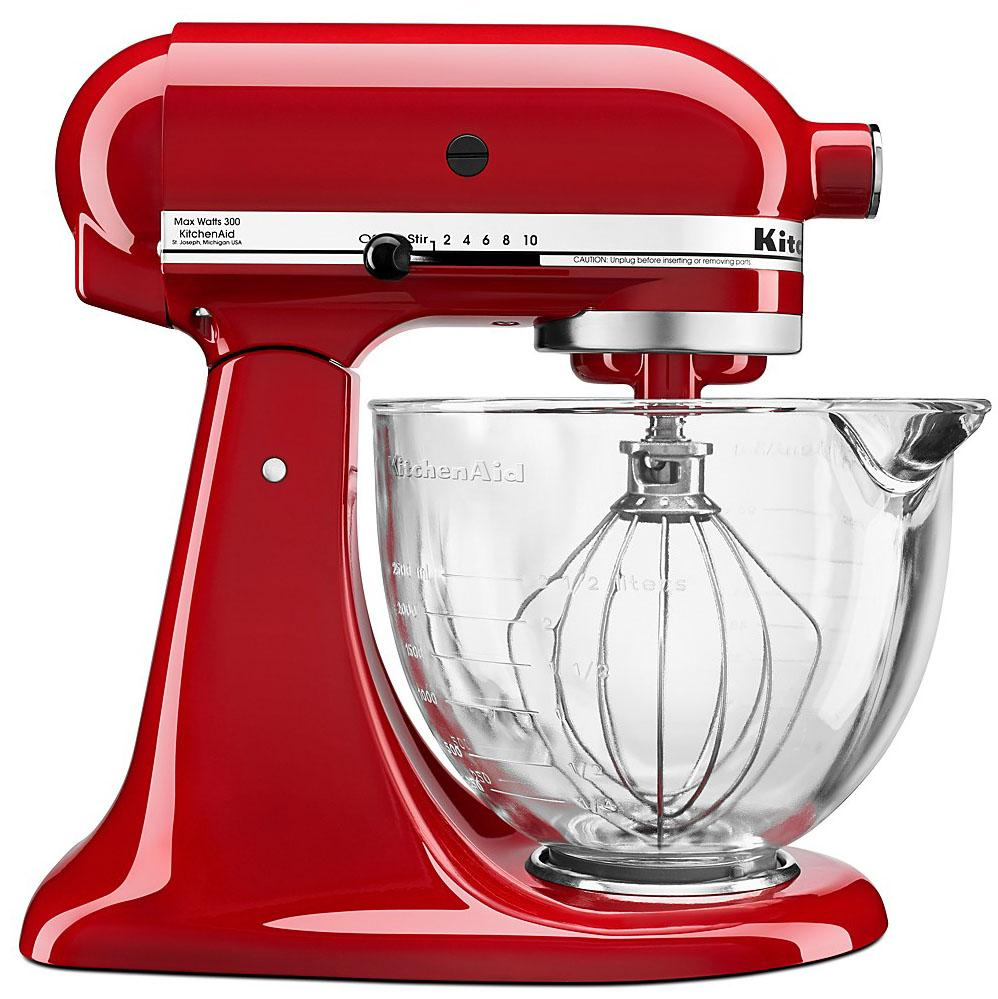 KitchenAid 5Qt Stand Mixer with Glass Bowl