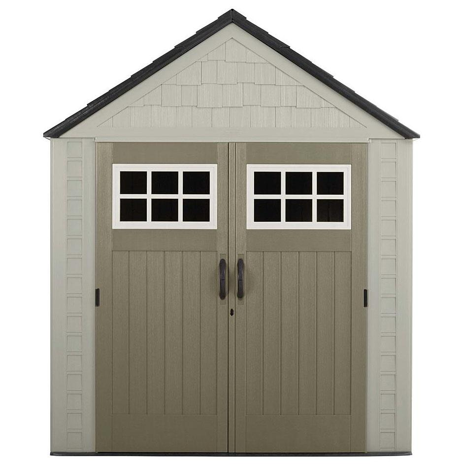 Rubbermaid 7ft x 7ft Outdoor Resin Storage Shed