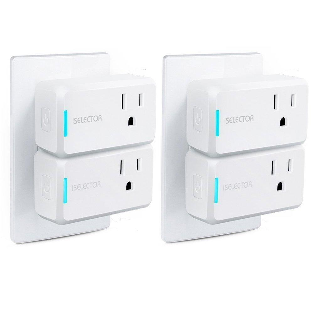 4x ISelector Mini Wi-Fi Smart Plugs