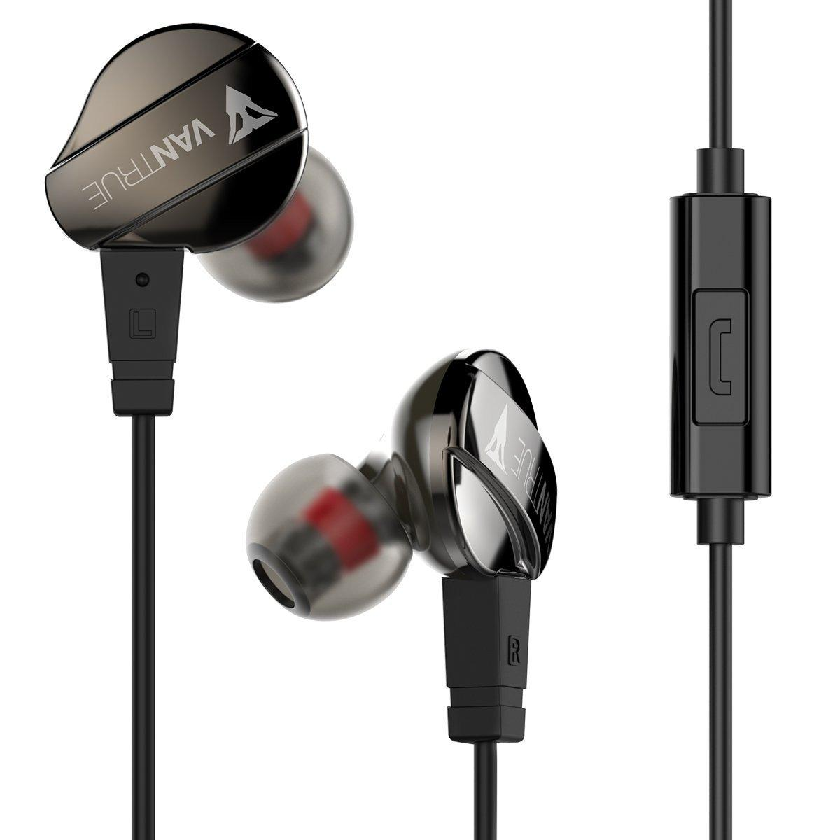 Vantrue In Ear Headphone with Bass and Mic