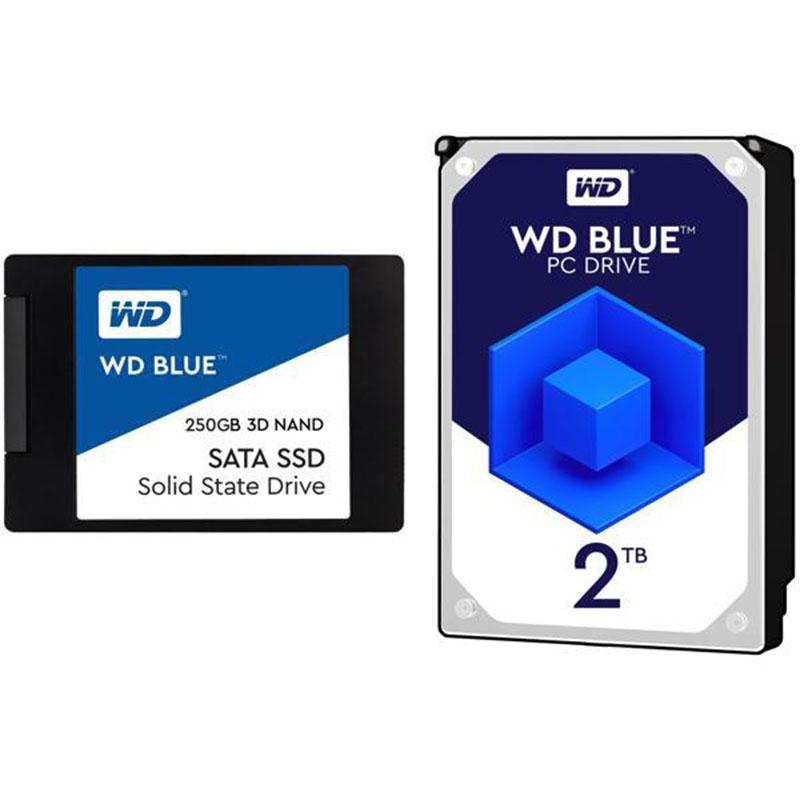 250GB WD Blue Solid State Drive with 2TB Hard Drive