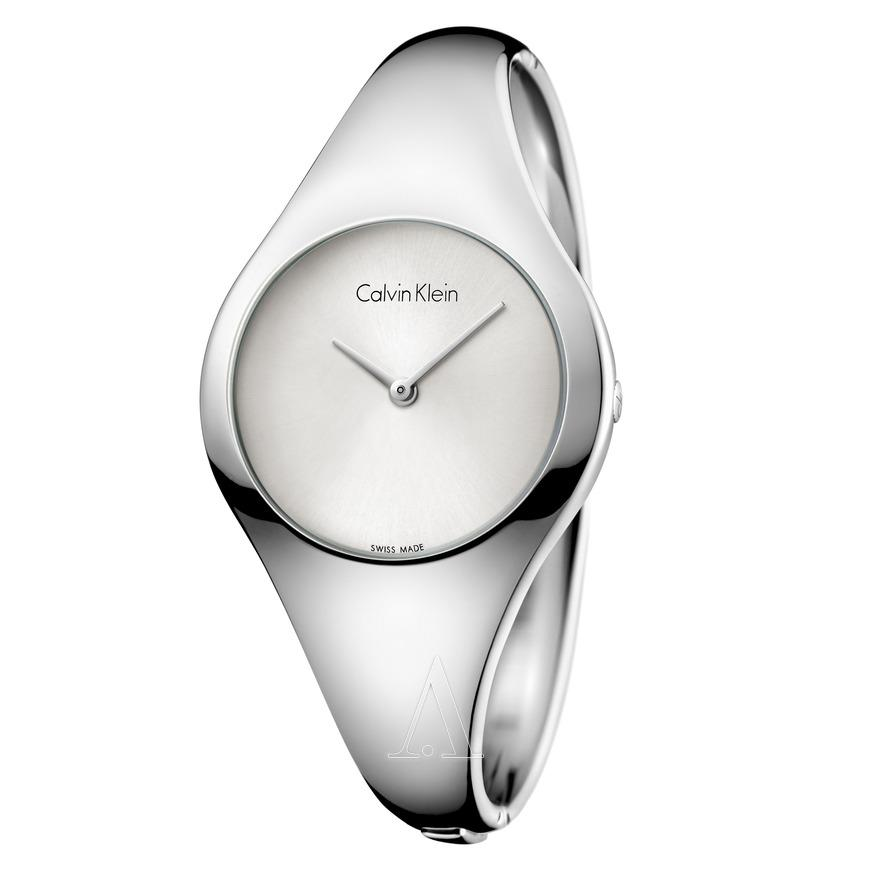 Calvin Klein Womens Stainless Steel Bangle Style Watch