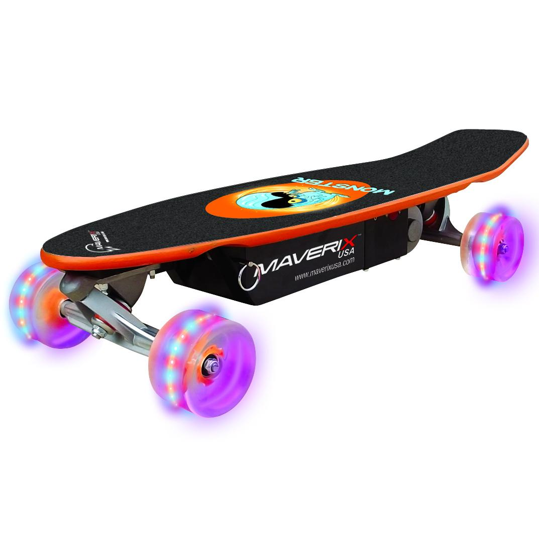 Maverix Monster Kids 100W Electric Skateboard with LED