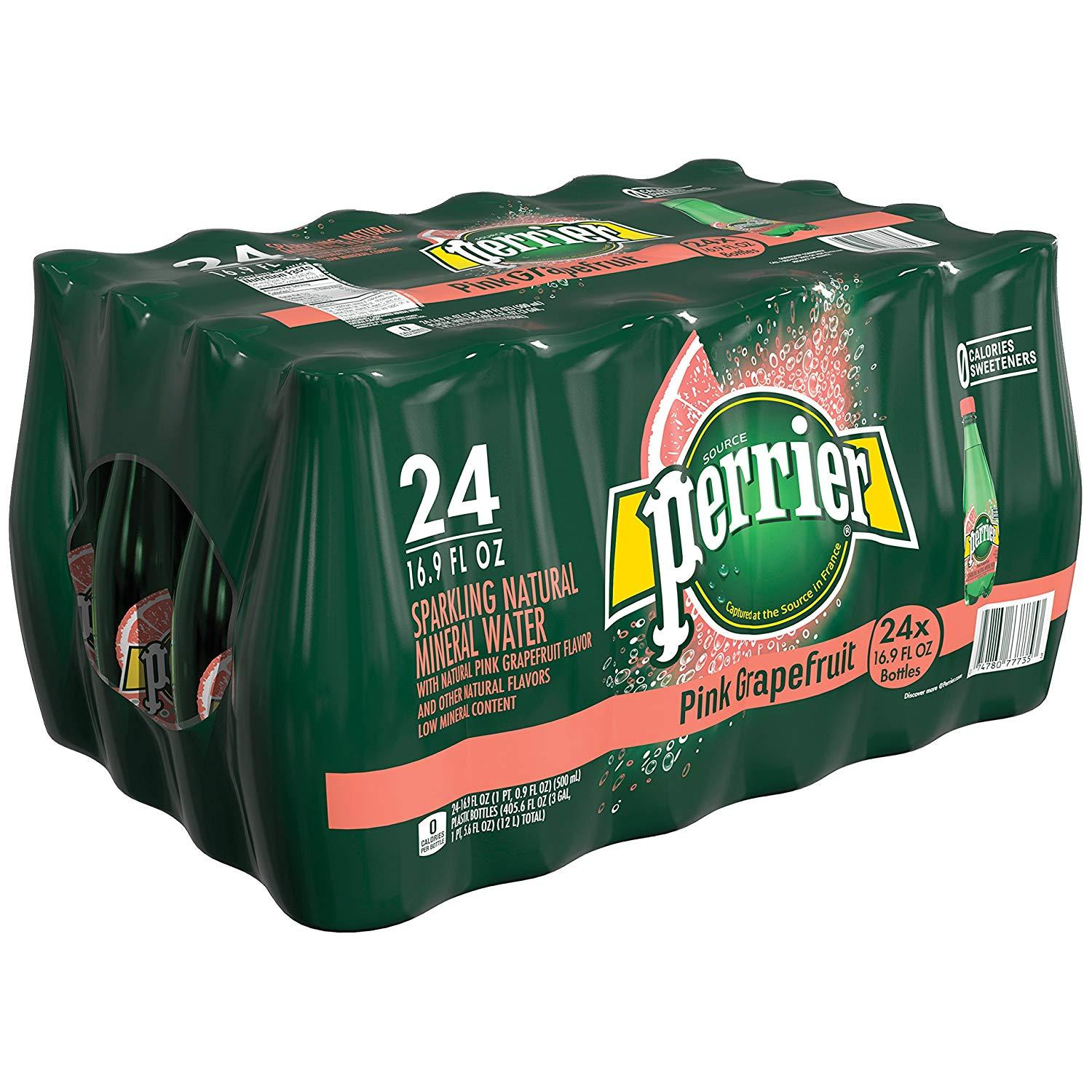 24 Perrier Pink Grapefruit Carbonated Mineral Water