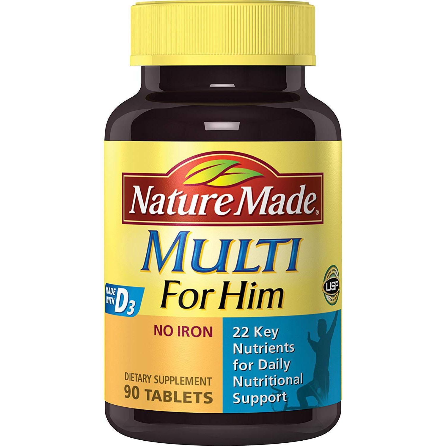 Nature Made Multi Him Essential Vitamins Tablets