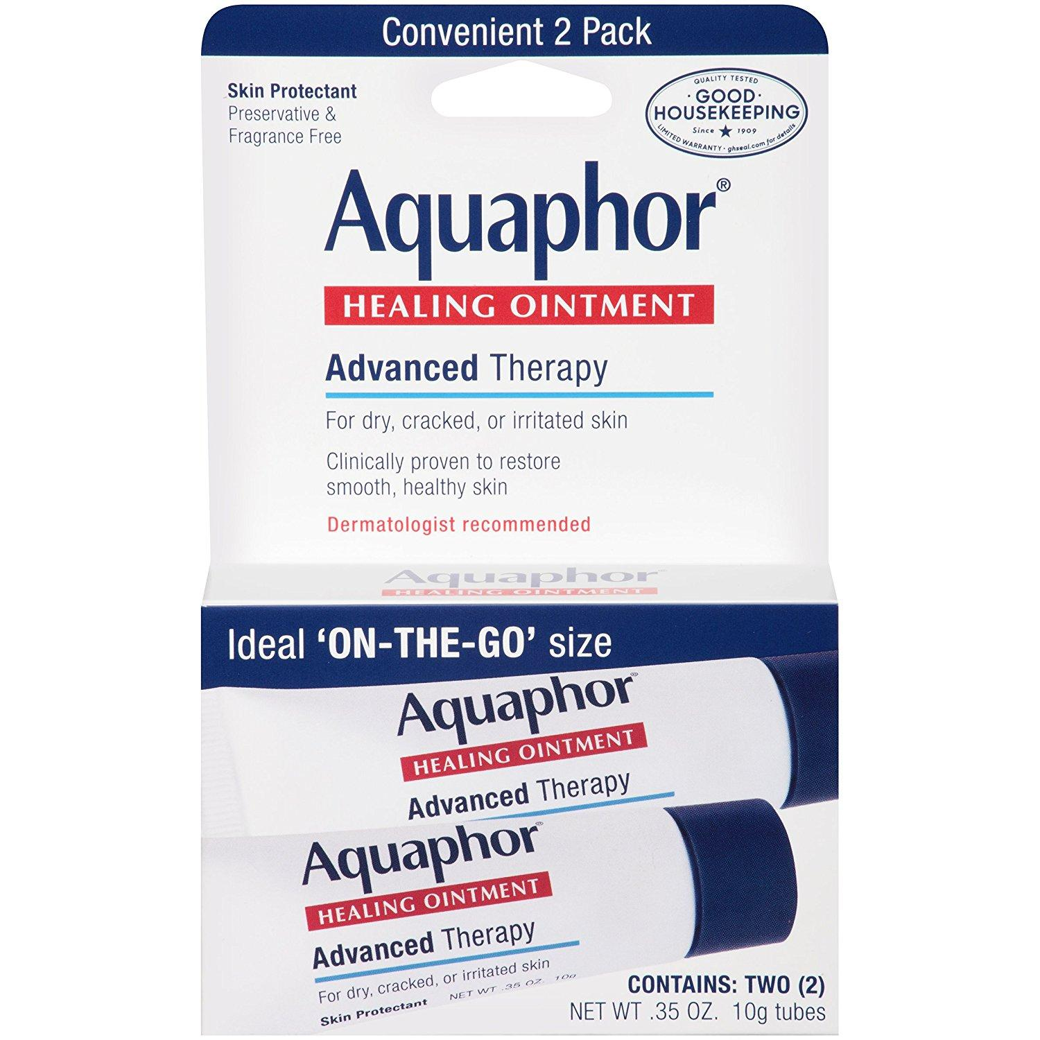 2x Aquaphor Advanced Therapy Healing Ointment Tubes