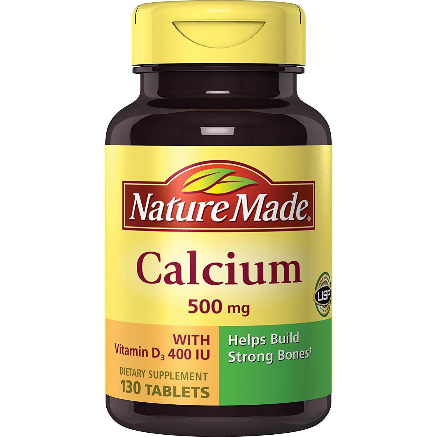 Nature Made Calcium and Vitamin D3 Tablets