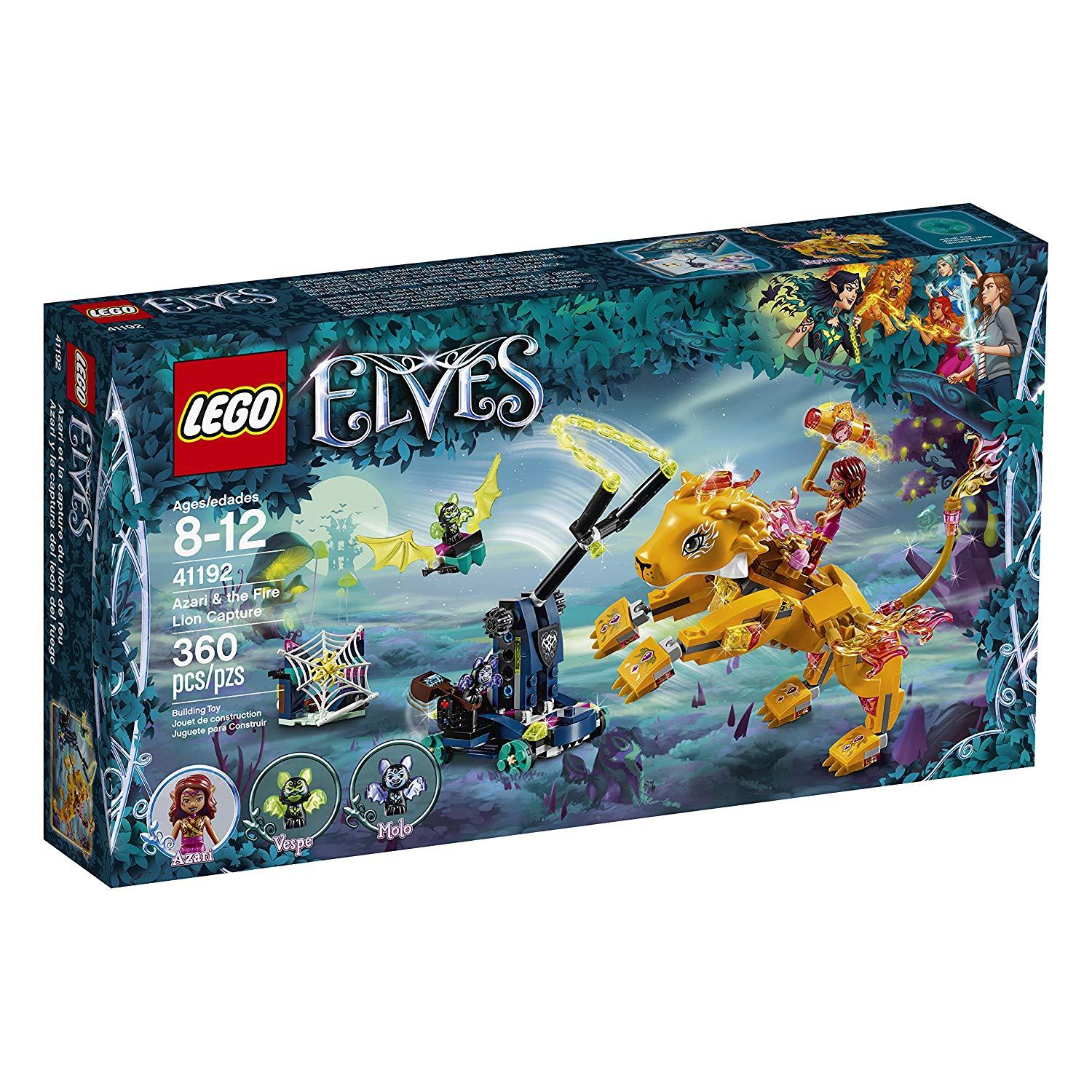 Lego Elves Azari and Fire Lion Capture Building Kit