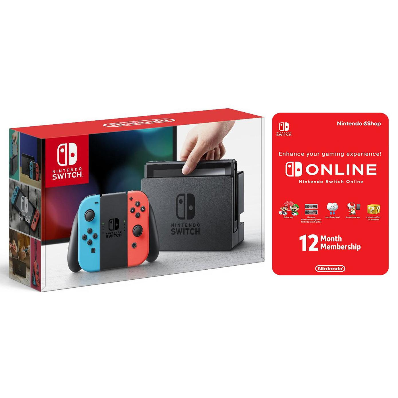Nintendo Switch Gaming System with 12 Month Membership for $267.71 Shipped