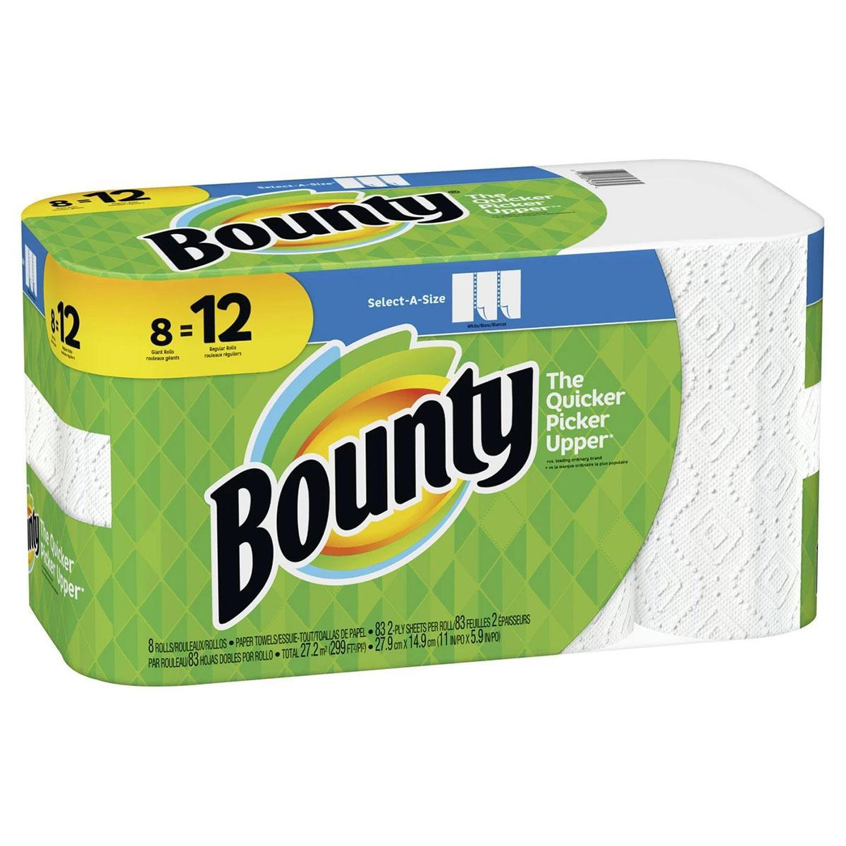 24x Bounty Select-A-Size Roll Paper Towels with Gift Card