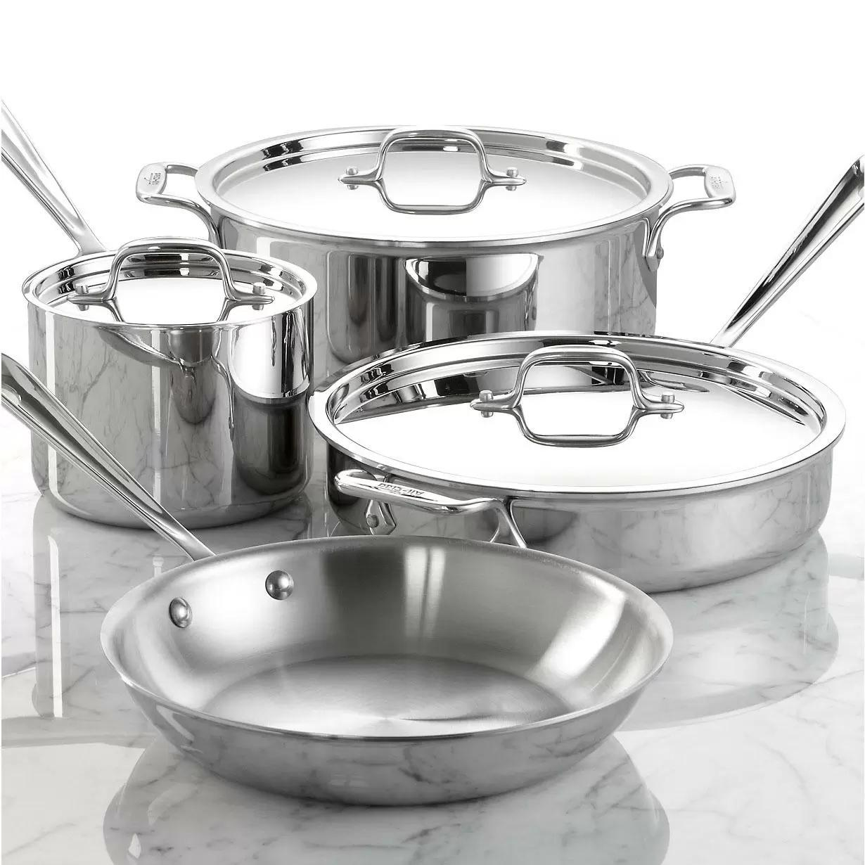 All-Clad Stainless Steel 7-Piece Cookware Set for $299.99 Shipped