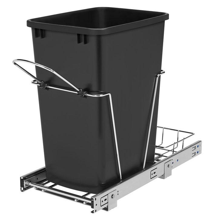 Rev-A-Shelf 35Q Plastic Soft Close Pull Out Trash Can