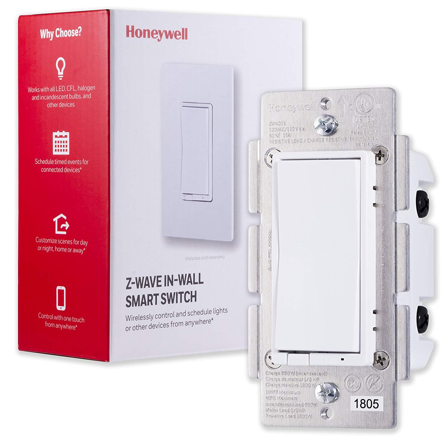 Honeywell Z-Wave Plus Smart Light Switch for $24.95