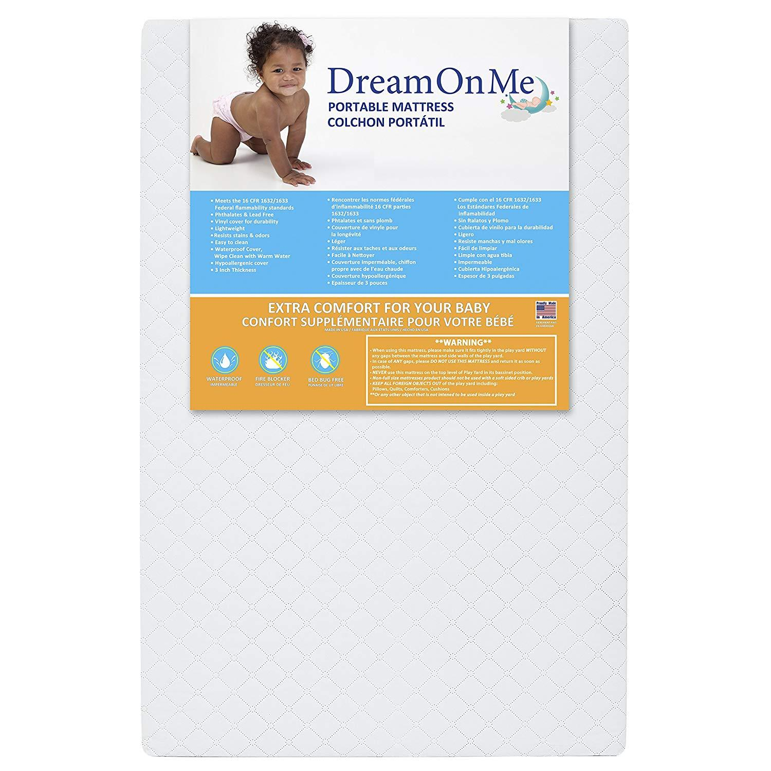 Dream On Me 3in Extra Firm Portable Crib Mattress for $7.22