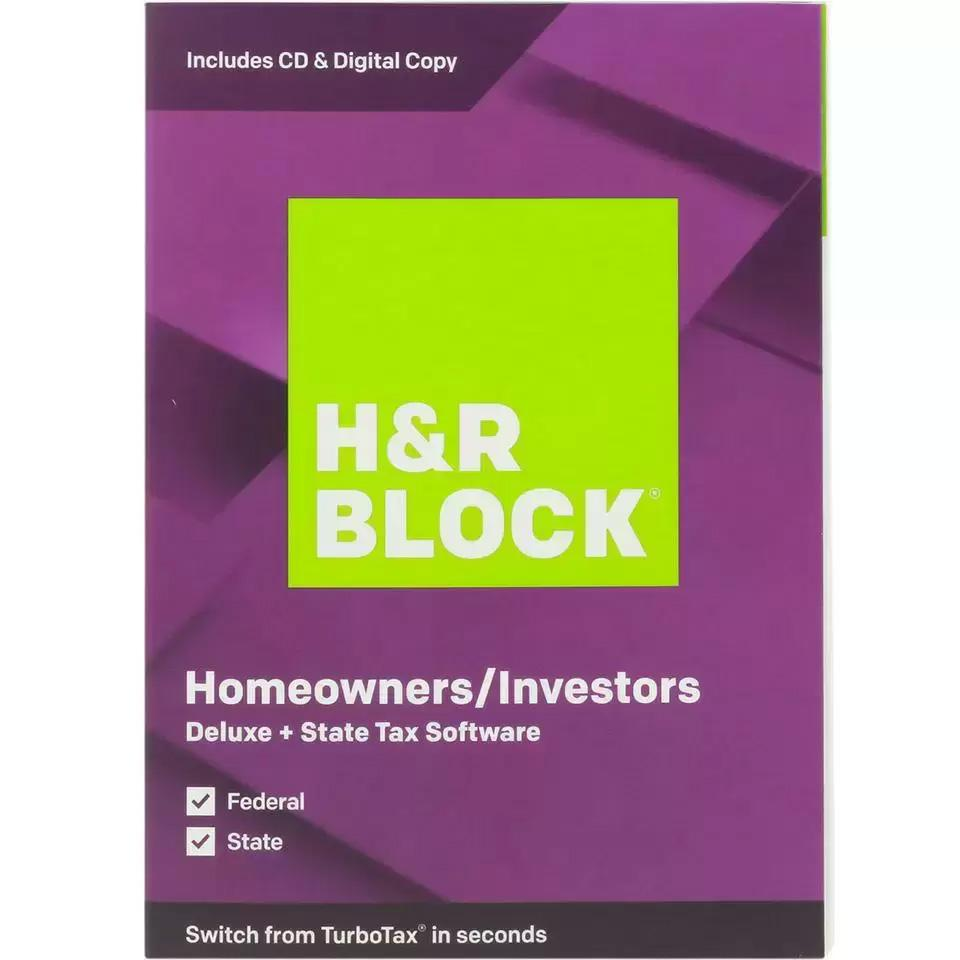 H&R Block Deluxe and State 2019 for $18.99