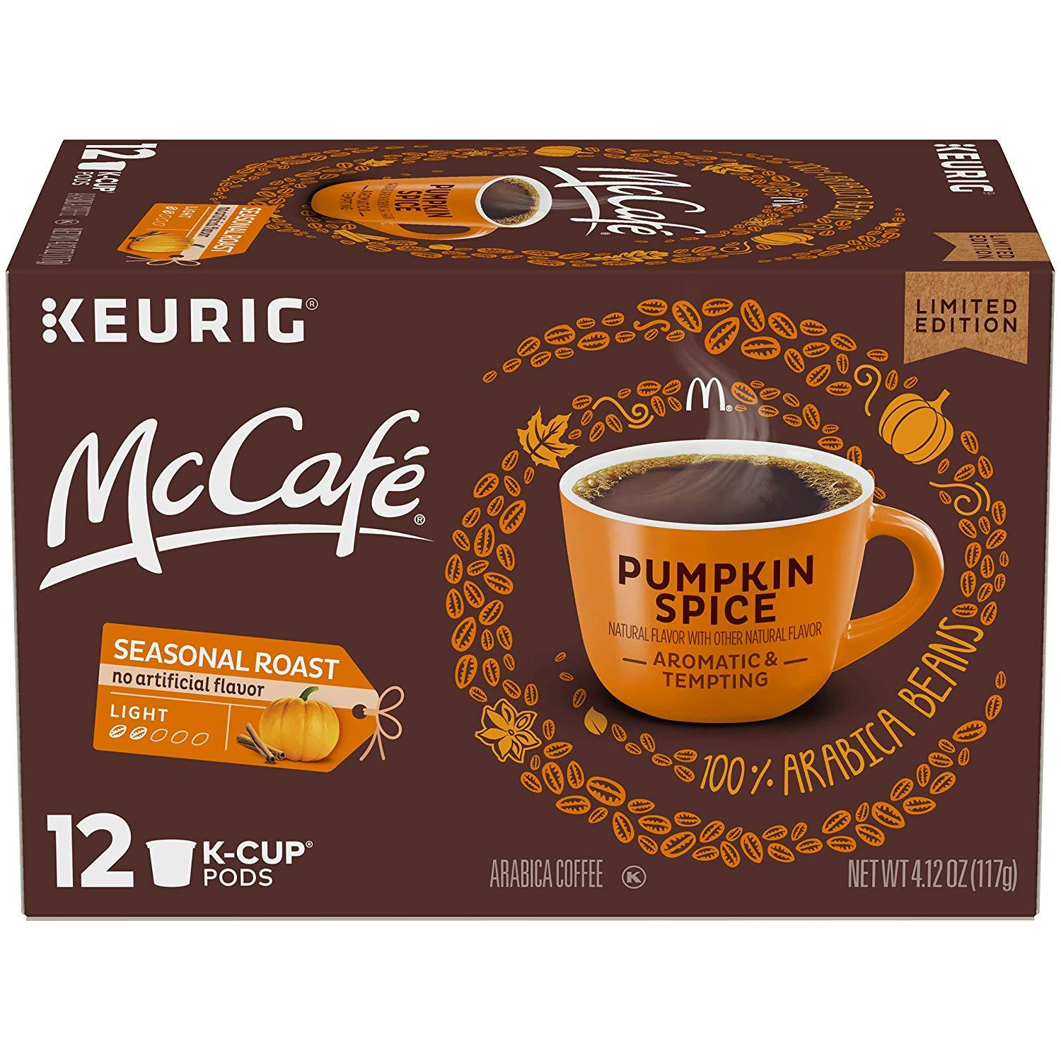 12 McCafe Pumpkin Spice Coffee K-Cups for $3.52 Shipped