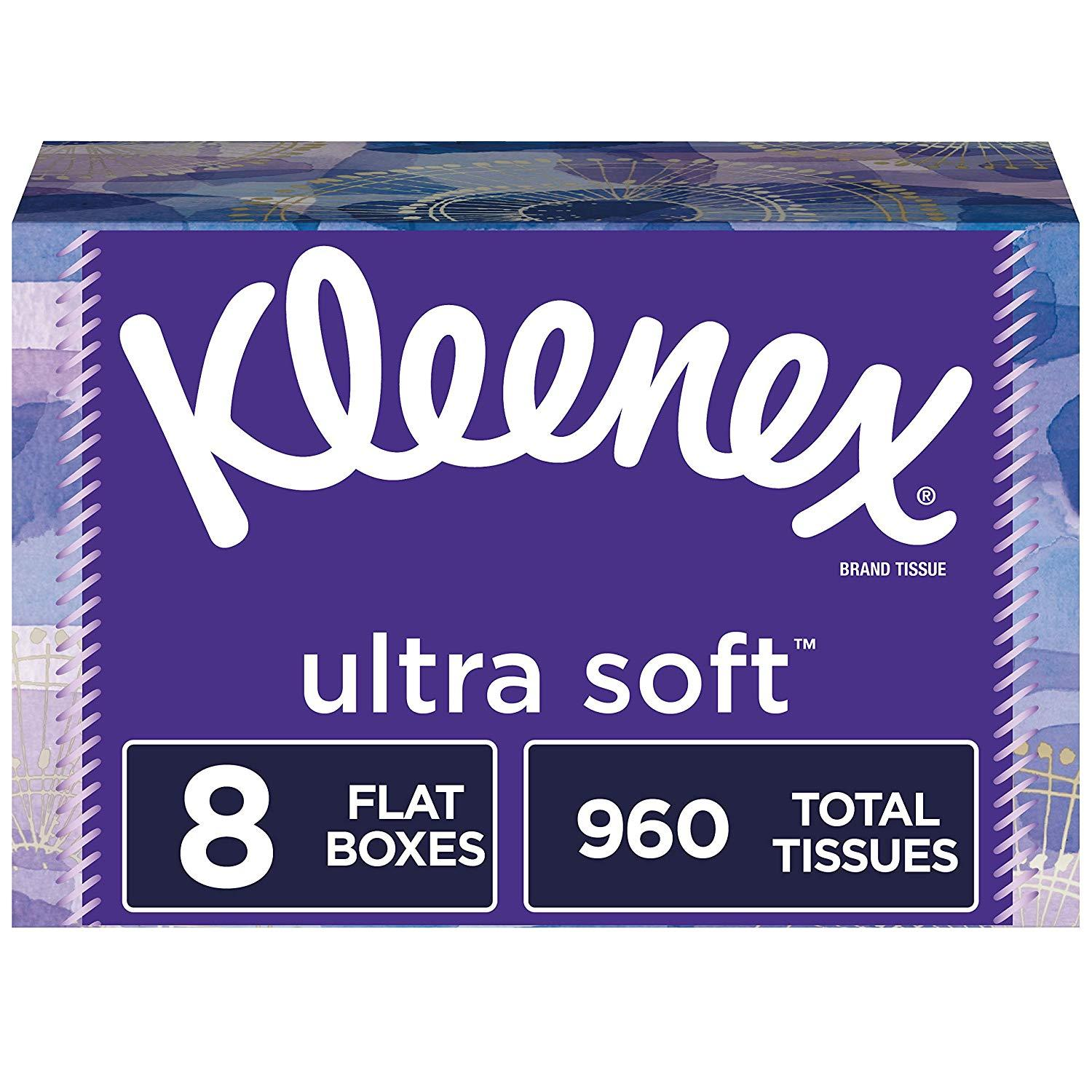 24 Pack of Kleenex Ultra Soft Facial Tissues for $25.20 Shipped