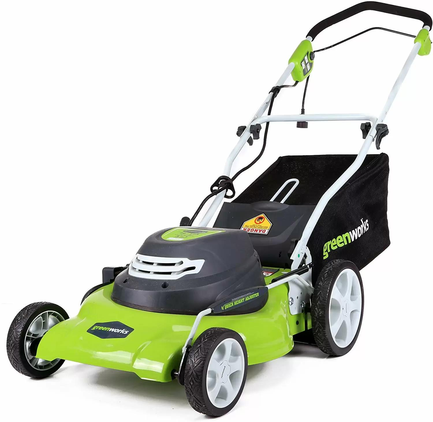 Greenworks 20in 3-in-1 12A Electric Lawn Mower for $134.99 Shipped