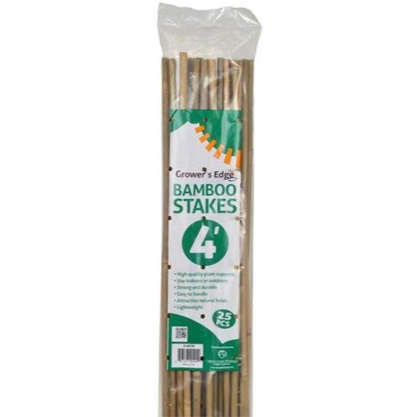 24 Growers Edge 4ft Bamboo Plant Support Poles for $4.88