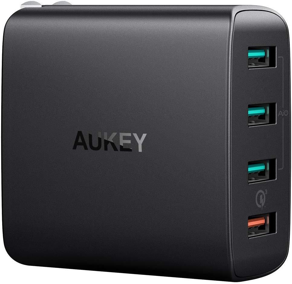 Aukey 4-Port USB Wall Charger for $14.99