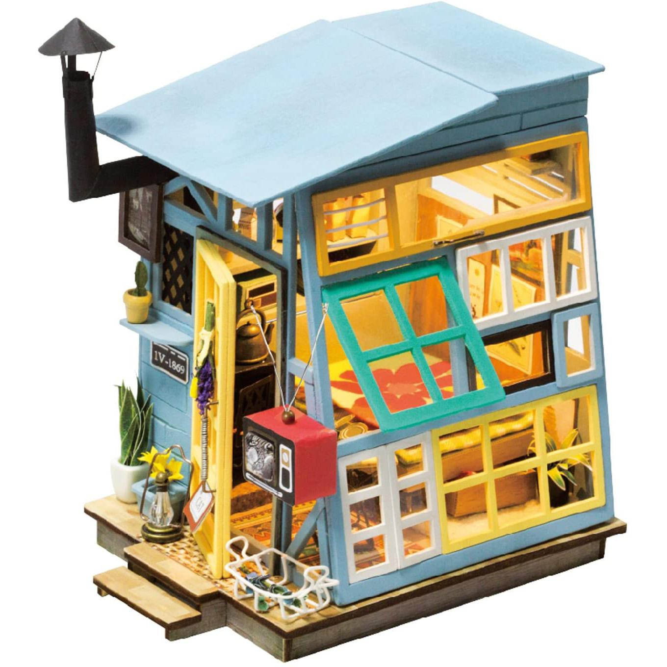 Robotime Balcony Daydreaming Miniature Doll House Kit for $15.59