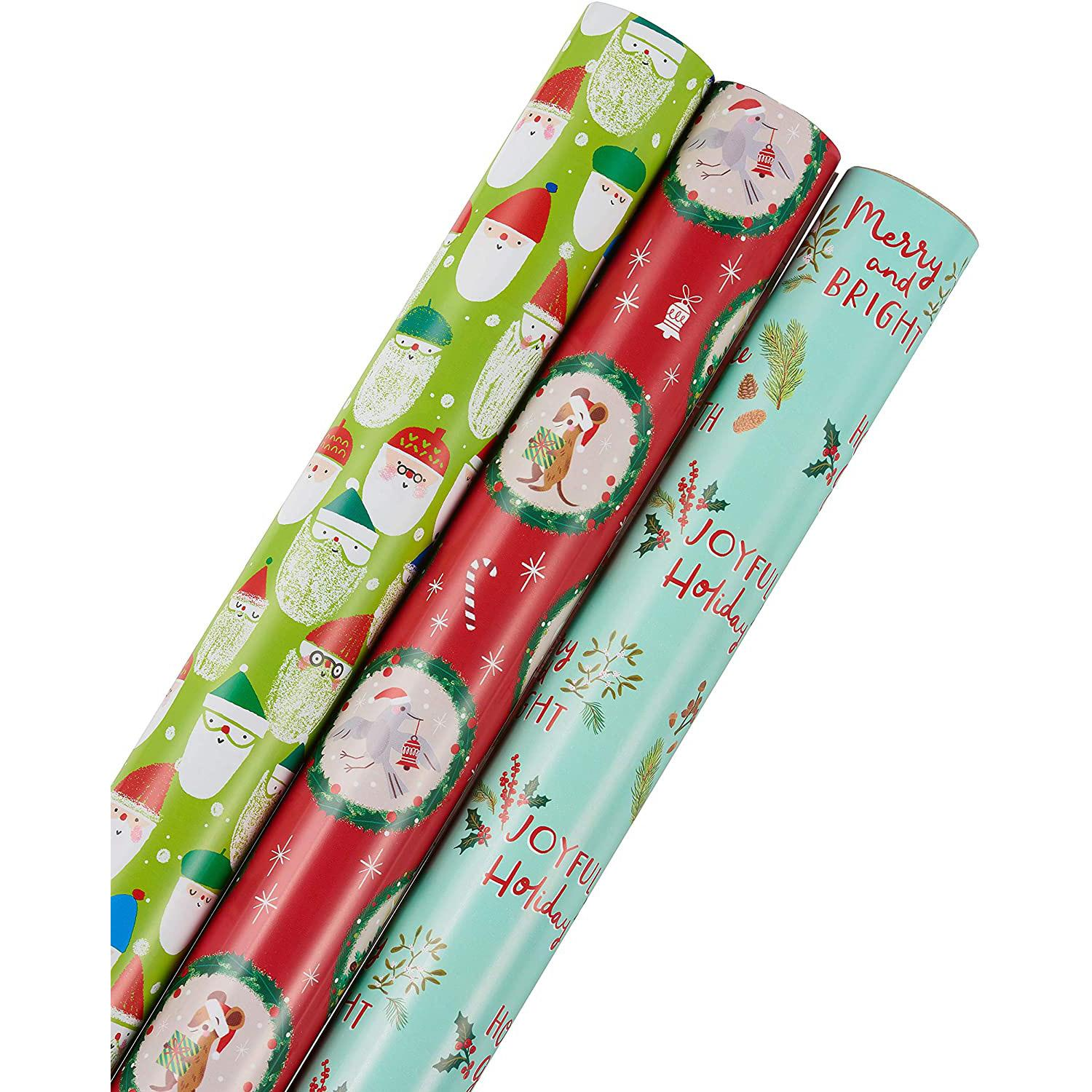 3-Rolls of 30in Papyrus Christmas Wrapping Paper for $8.66