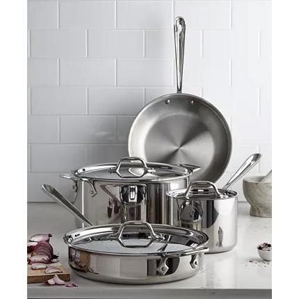 7-Piece All-Clad Stainless Steel Cookware Set for $299.99 Shipped
