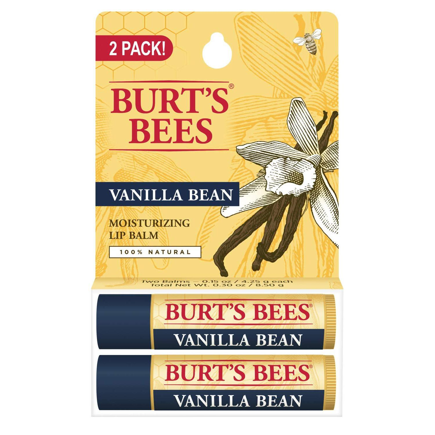 2 Burts Bees Natural Moisturizing Lip Balms for $3.11 Shipped