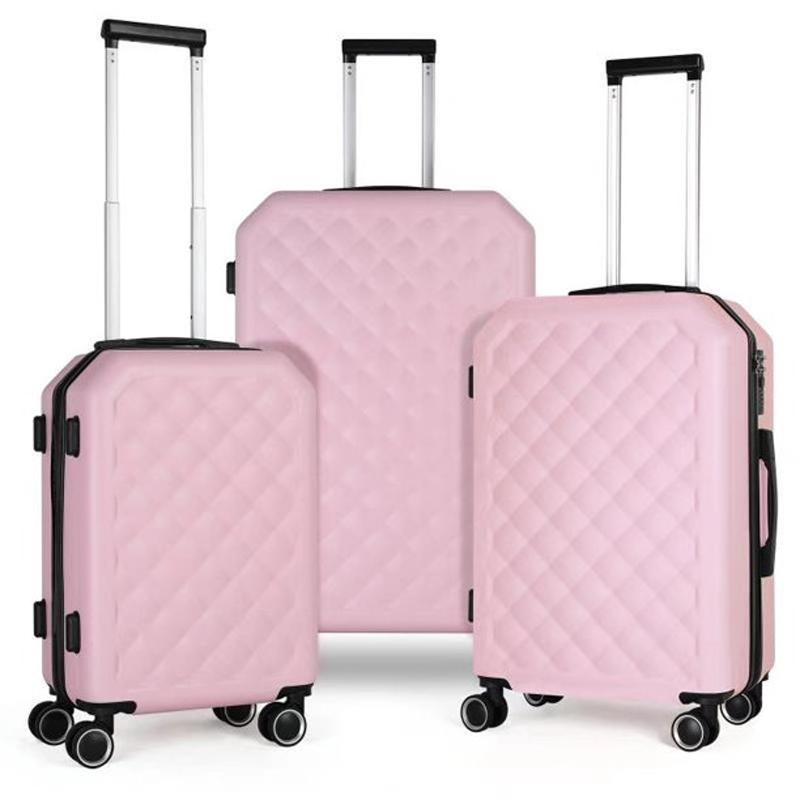 3-Piece Travel Trolley Hard Shell Luggage Set for $66.77 Shipped
