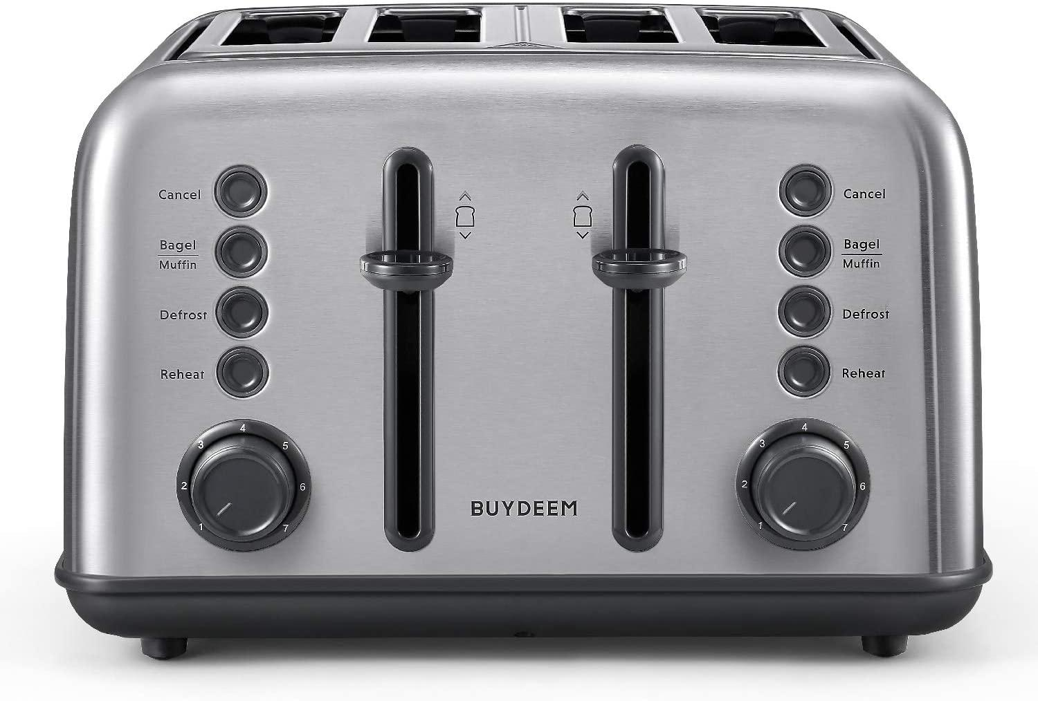 Buydeem DT-6B83 4-Slice Toaster for $47.99 Shipped